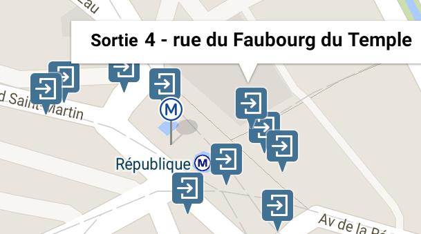 Les sorties des stations du métro de Paris - Citymapper