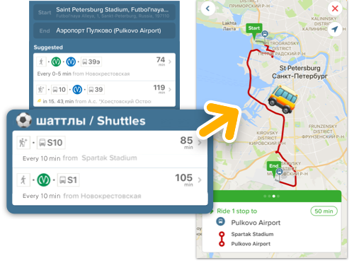 Find the quickest route to your World Cup matches - Citymapper