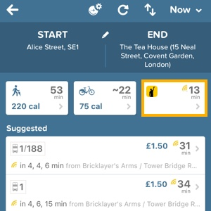More cab choices with Gett - Citymapper